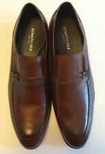 KENNETH COLE Men's SUPER CHIEF LOAFERS Brown Genuine Leather Shoes NEW Size 11.5