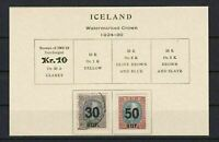 ICELAND 1924 -30  MOUNTED MINT & USED SURCHARGES   STAMPS  REF 5780