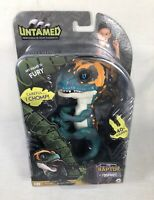 Untamed Raptor by Fingerlings Fury Blue Interactive Collectible Dinosaur