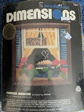 """Dimensions """"Summer Window"""" Stamped Needlepoint Canvas Kit"""