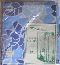 New Gardenia Fabric Shower Curtain Park Designs Bold Blue Hawaiian Floral 72x72
