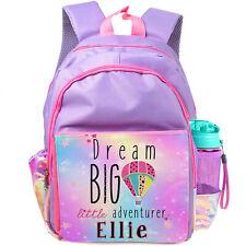 Personalised School Bag Rainbow Girls Backpack Childrens Kids Pink Pretty PL12