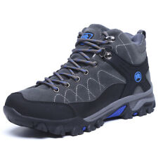 Men's Boots Winter Faux Fur Snow Boots Ankle Shoes Outdoor Lace Up Hiking Shoes
