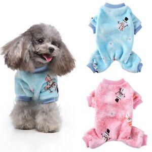 Pet Soft Plush Fleece Winter Small Dog Clothes Puppy Warm Coat Apparel Jumpsuit