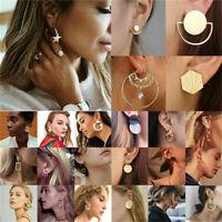 Boho Geometric Round Circle Drop Dangle Ear Stud Earrings Women Jewelry Gifts