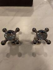 Rohl Bath/kitchen Crystal Cross Handles Polished Nickel Rare New