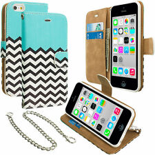 Metal Mobile Phone Wallet Cases for iPhone 5c