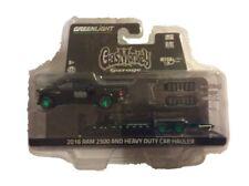 Greenlight 1:64 Hitch & Tow 8 Gas Monkey 2016 Ram 2500 Car Hauler GREEN MACHINE