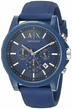 BRAND NEW ARMANI EXCHANGE AX1327 A/X MENS BLUE SILICONE DATE FUNCTION WATCH
