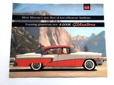 1956 mercury montclair car sales brochure catalog - convertible monterey