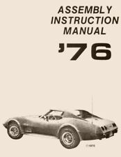 1976 CORVETTE C3 ASSEMBLY MANUAL 100'S OF PAGES OF DETAILS & ILLUSTRATIONS L0103