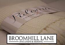 New! Light Cream WAFFLE Warm Soft SOFA BED Throw Tasselled Edging Cute Blanket