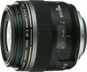 Canon monofocal macro lens EFS60mm F2.8 macro USM APSC corresponding NEW