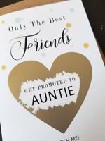 Pregnancy announcement card for sister friend get promoted to auntie reveal PA7