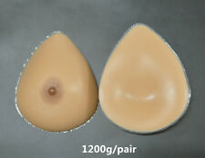 1200G/Pair Fake Breast Forms False Breast Transgender Mastectomy Dd Cup Gifts