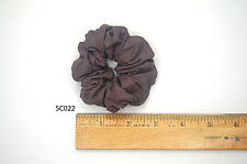 Silk Scrunchies Ponytail Holder Elastic Ties Hair Band Taupe Rose Grey SC022
