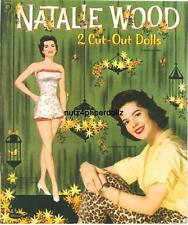 Vintage 1958 Natalie Wood Paper Dolls ~Pretty Laser Reproduction~Orig Size Uncut