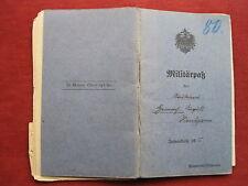 """Militärpaß """"i.r.78 Osnabrück, feldbäckerei-kol79, feldart.nr.2, nº 55"""" top!!!"""