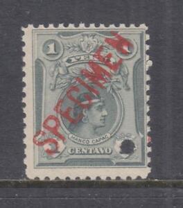 PERU, 1909 Manco Capac, 1c. Grey, ABN Co. Proof, SPECIMEN, small punch hole, mnh