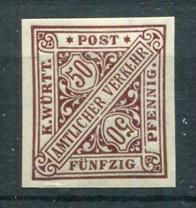 GERMANY WURTTEMBERG 1917 SCOTT O133 SCARCE IMPERF PROOF SUPERB MNH SEE SCANS