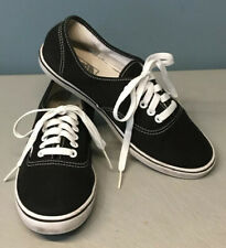 Black Classic Vans Lowtop Skateboard Shoes Tie Up Womens 8/ Mens 6.5