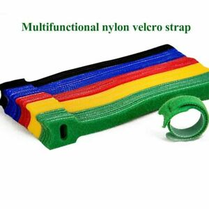 50pcs Reusable Strap Organizer Cable Cord Wire Warp Tie Tidy Straps Adjustable