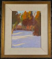 Original Double Sided Oil Painting by Margaret McWethy  Winter Landscape Listed