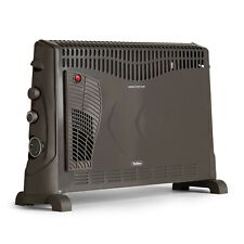 VonHaus Electric Convector Heater - Grey - 2000W, 3 Heat Settings, Turbo & Timer