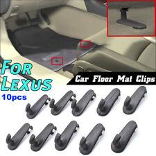 10pcs Floor Mat Clips Hooks Retention For Lexus All Models Hold Fastener