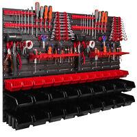 32 Stapelboxen Wandregal Werkstattregal 115 x 78 cm Werkzeughalter Lager XL