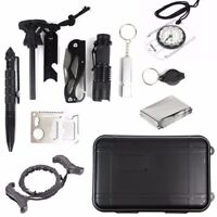 EmergencySurvival Kit 12 in 1 Multi-Functional Tools for Camping Hiking Outdoor