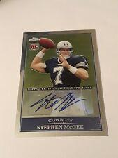 2009 Topps Chrome Stephen McGee rookie Auto autograph Dallas Cowboys
