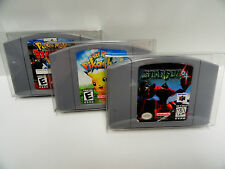 100 N64 CARTRIDGE Protectors  Clear Cases / Boxes For Nintendo 64 Video Games
