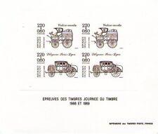 EPREUVES DES TIMBRES DE LA JOURNEE DU TIMBRE 1988 ET 1989 - BRISTOL SANS GOMME