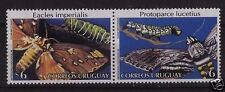 Butterfly catterpillar moth insect URUGUAY Sc#1731/2 MNH STAMP
