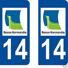 stickers autocollants plaques immatriculation auto Département Calvados 14