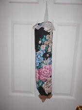 Bag Stuffer Plastic Grocery Bag Holder - Black, Mauve Cabbage Roses