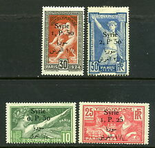 1924 Syria SC 166-169 Olympic Games Set w/ Overprint, Mint MLH