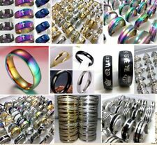 Wholesale 1000 Mix wedding band  stainless steel rings men women Jewelry lots