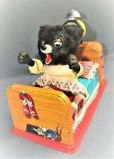 SLEEPING BABY BEAR 1950's JAPAN by LINEMAR Co. ( MARX ) EX / WORKING