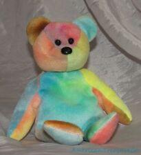 "Rare 1993 TY Beanie Baby Plush Rainbow 8"" GARCIA The BEAR w/PVC Pellets No Stamp"