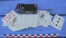 Petit jeu de 52 cartes compagnie aérienne UTA, étui brun, complet, vintage,