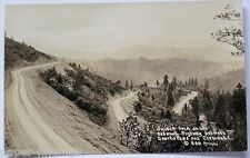 Old Road Grants Pass OR to Grescent City CA Patterson Real Photo Postcard RPPC