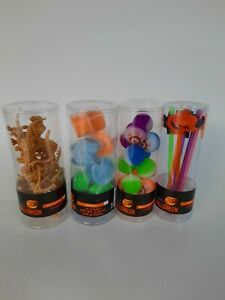 HALLOWEEN Party favors bag treat gift Squishy Eyeballs, sand, straws, dinosaurs