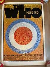 The Who 50th Anniversary British Tour Poster Chuck Sperry Signed Print 2014 Rare