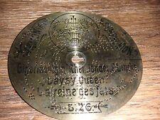 "Gigerlkönigin SYMPHONION piastra di lamiera 11,5cm OROLOGIO JUNGHANS Automaton 4 1/2"" Disc"