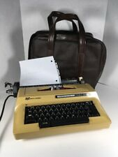 Smith Corona Sterling Automatic 12 Electric Typewriter 3LRC Harvest Gold W/ Case
