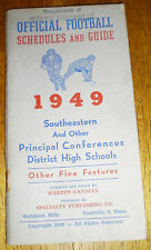 Official Football Schedules & Guide – 1949 (SEC and Other Conferences) (1949)