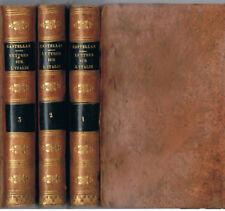 CASTELLAN - LETTRES SUR L'ITALIE - 3 VOLUMES RELIES - 50 PLANCHES-LIVRE ANCIEN