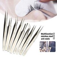 Eyelash Extensions Jeweler Style Tweezers Kit 8 pcs/set Precision Eyelash Tools